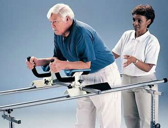Glider Can Be Positioned on Parallel Bars, Assists in Ambulation